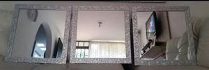 Juego de espejos modernos decorativos cinta doble posot for Espejos decorativos bogota