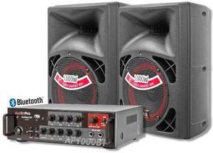 Minicomponente De Sonido Con Amplificador Bluetooth Usb Radi