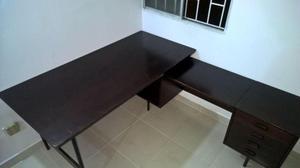 Escritorio mesa mueble de computo en madera y posot class for Mueble para escritorio