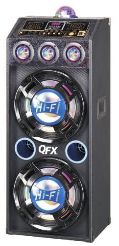 Qfx Gabinete Bluetooth Altavoz Con Amplificador