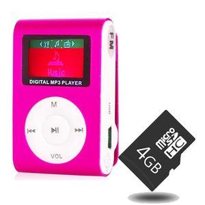 Mp3 Digital Multimedia Player - Rosado Metalizado + Micro Sd