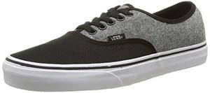 Vans Unisex Auténticos (c & C) Negro/estaño Skate Zapatos