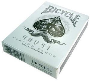 Cartas Bicycle Ghost By Ellusionist Blancas