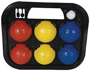 Juguete Tooltown Clásico Bochas Bolas Conjunto, Rojo / Azul