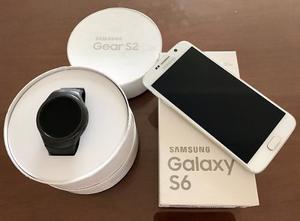 Samsung Galaxy S6 32gb + Gear S2 Estado