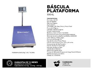 Se vende Bascula palataforma digital marca Bernolo para peso