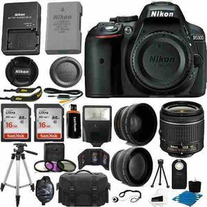 Cámara Slr Nikon D Mp Cmos Digital + Kit 3 Lentes