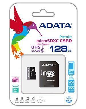 Memoria Adata Micro Sd 128 Gb Clase 10 Celulares Tablets Gps