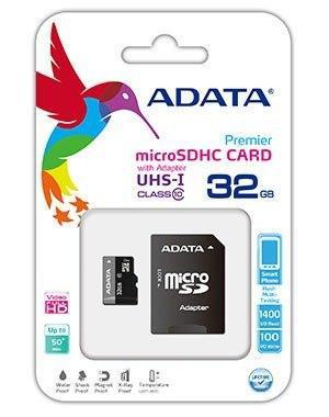 Memoria Adata Micro Sd 32 Gb Clase 10 Celulares Tablets Gps