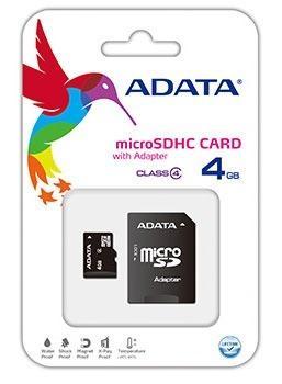Memoria Adata Micro Sd 4 Gb Clase 4 Celulares Tablets Gps