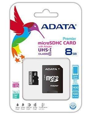 Memoria Adata Micro Sd 8 Gb Clase 10 Celulares Tablets Gps