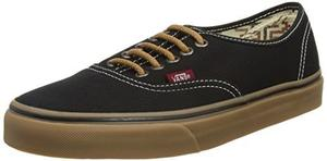 Vans Unisex Auténticos (t & G) Negro/goma Skate Zapatos