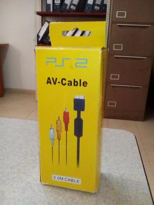 Cable Av Audio Y Video (bananas) Para Ps3 Y Ps2