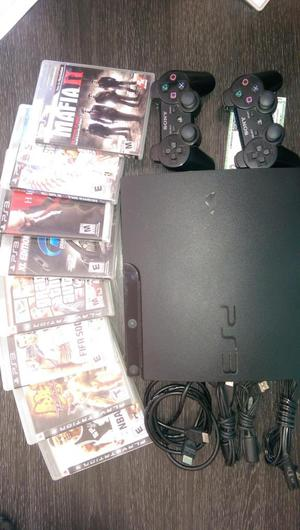 Play Station 3 slim en perfectas condiciones, 2 controles y