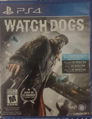 Watch Dogs Ps4 Unico Dueño / Original