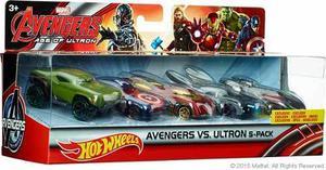 Avengers Marvel Ultron Hot Wheels Thor Iron Man Capitan Hulk