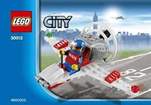 Juguete Lego City Mini Figure Set # Mini Airplane Bagged