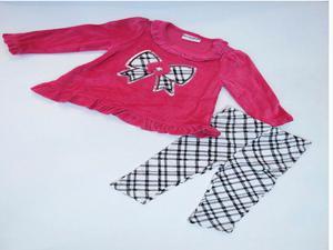 Conjunto de ropa Niña moño a rayas