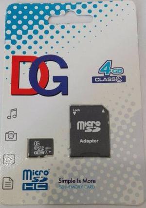 Memoria Micro Sd 4gb Dg Clase 6 Con Adaptador