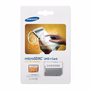 Memoria Micro Sd Samsung 64gb Evo Clase 10