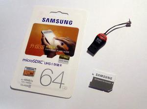 Tarjeta Memoria Micro Sd 64 Gb Clase 10 Samsung Evo