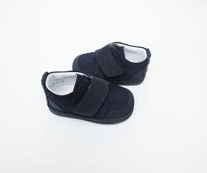 Zapato azul oscuro caminadores, no tuerce