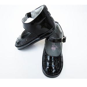 Zapato negro charol caminadores, no tuerce