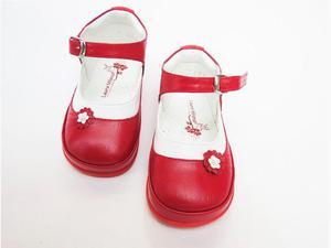 Zapato rojo combinado caminadores, no tuerce