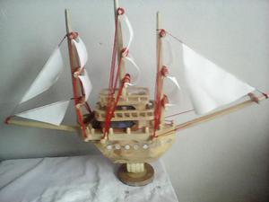Barco de Madera para Decorar Grande