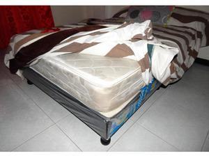 Cama tarima 140 x 190 colchon ortopedico patas2 posot class for Cama semidoble