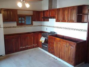 Cocinas en maderas maciza cedro abarco y roble posot class for Medidas de cocinas integrales de madera