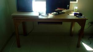 Tocador y escritorio en madera pino posot class - Mesa escritorio madera ...