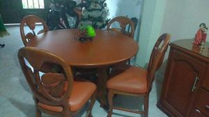 Sofa 3 sillas comedor madera 4 puestos buen estado posot for Muebles sala comedor