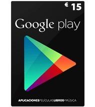 Tarjeta Google Play De 15 Dolares-