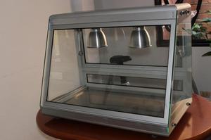 Vitrina en Aluminio con Bandeja en Acero especial para pollo