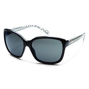 Gafas De La Mujer Cayenne Polarizada Negro Marco De Deco, U