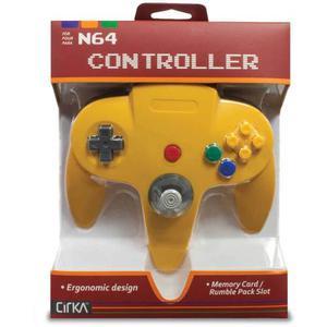 Hyperkin Cirka N64 Controlador M-ye, Amarillo
