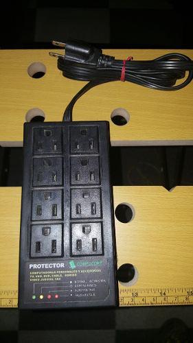 Protector Y Regulador Electronico De 8 Puertos 110v