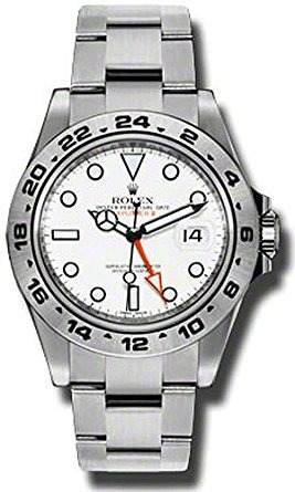 Hombres De Acero Inoxidable Rolex Explorer Ii Reloj W