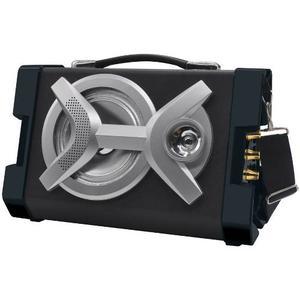 Qfx Bluetooth Portable Partido Pa Altavoz De Madera