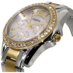 Reloj Plata Fossil Para Mujeres Es