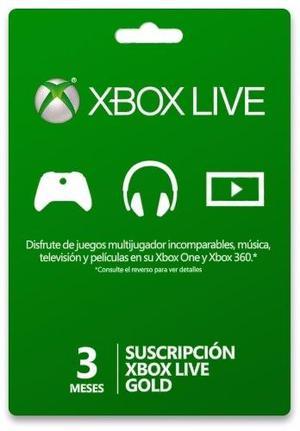 Xbox Live 3 Meses Codigo Digital Xbox Live Gold 3 Meses