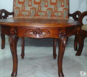 Juego de sala en madera perfecto estado posot class for Juego de sala y comedor