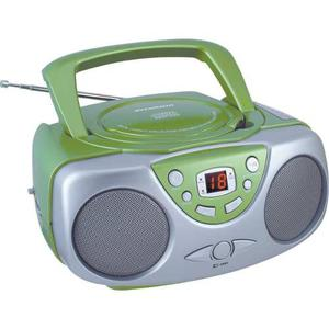 Sylvania Srcd243m Cd Portátil Boom Box Con Am / Fm Radio,