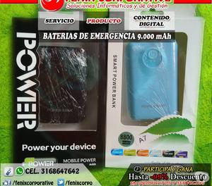 BATERÍA DE EMERGENCIA (POWER BANK)  MAH