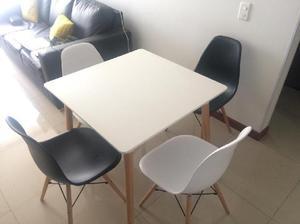 Comedor deko cuatro puestos fabricante directo posot class for Comedor cuatro sillas