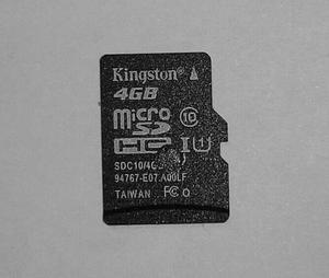 Memoria Micro Sd 4 Gb Clase 10 Kingston Original