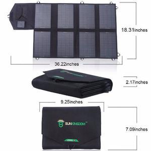 Panel Solar 28 Watts Sunkingdom 2 Salidas 2.0 A Y Salida 18v