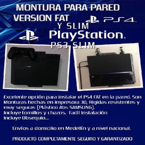 Soporte De Pared Para Playstation 4 3 ps4 PS3 Control -