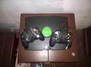 Vendo Xbox Clasico Negro 2 Controles En Muy Buen Estado